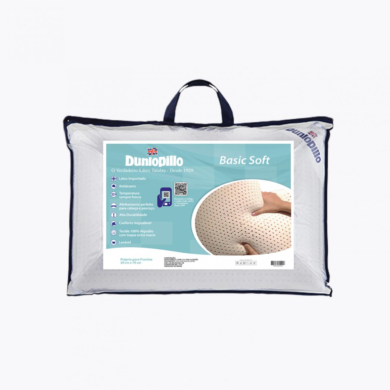Travesseiro de Látex - Basic Soft